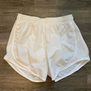 All White Nike Dri Fit Shorts